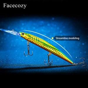 Image 3 - Facecozy bionic reflection 낚시 미노우 모양 인공 루어 브릴리언트 컬러 swimbait 낚시 하드 미끼 플로팅 크랭크