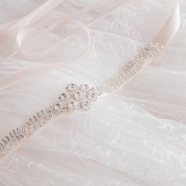 Elegant Sparking Crystal Rhinestone Trim And Detailed Satin Bridal Sash Wedding Sash Rhinestone Belt Bridal Belt