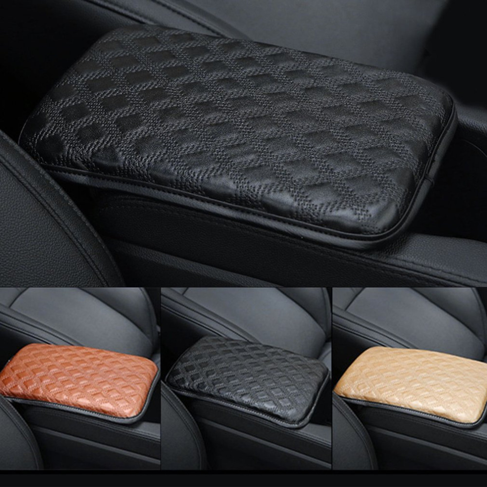 New Car Seat Armrests Cover Leather Pad Center Console Auto Seat Armrests Box Mat Auto Vehicle Protective Soft Mats Car-styling