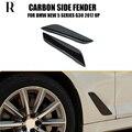 1 пара G30 углеродное волокно боковое крыло Накладка для BMW G30 Новая 5 серия 528i 530i 540i 2017 UP