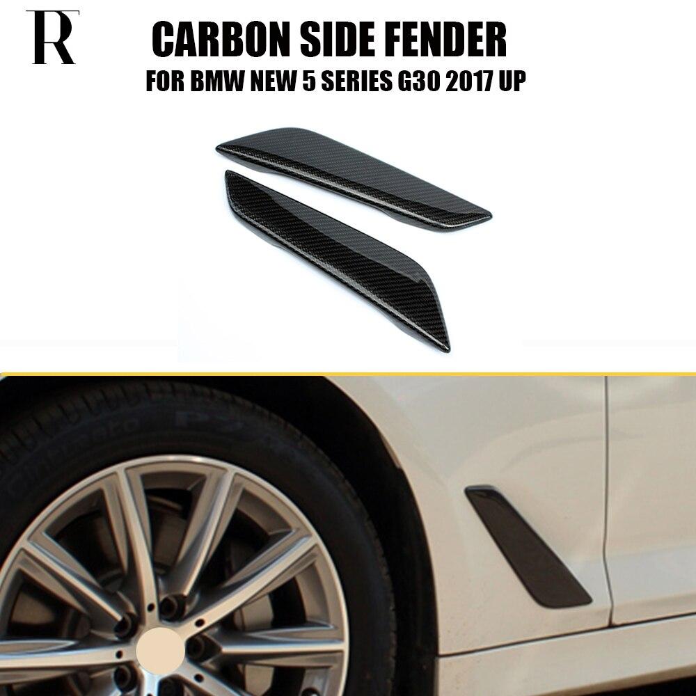 1 Pair G30 Carbon Fiber Side Fender Cover Trim for BMW G30 New 5 Series 528i 530i 540i 2017 UP
