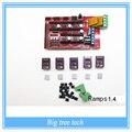 Ramps 1.4 rampas Reprap 1.4 kit painel de controle controle Reprap MendelPrusa 5 pcs DRV8825 Stepper Motor de Carrier