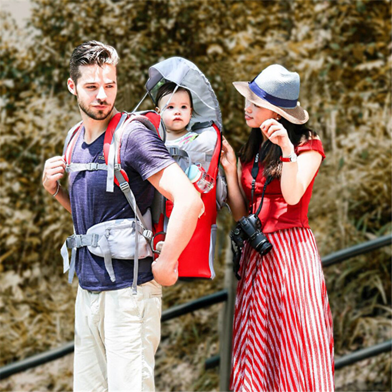 Trave Baby Carriers Shade Ourdoor Mountaineering Baby Back Climbing Frame Chairs Portable Baby Toddler Hiking BackpackTrave Baby Carriers Shade Ourdoor Mountaineering Baby Back Climbing Frame Chairs Portable Baby Toddler Hiking Backpack