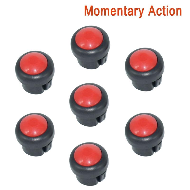 7 x кнопка включения мотоцикла сигнал поворота Высокий Низкий Луч Электрический старт Kill ON OFF кнопки мгновенного действия с фиксацией - Цвет: Red B