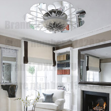 Flower Decorative Mirror Sticker 3D Ceiling Mirror Wall Stickers Living Room Bedroom Wall Decor Lamp Interior House Decoration(China)