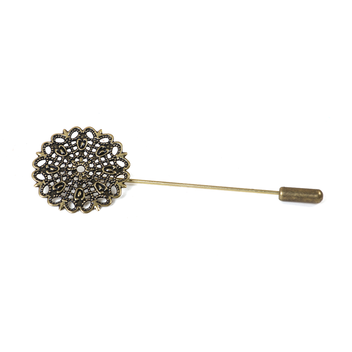 NBEADS 500 Pcs Nickle Free Brooch Backs Bar Pins Findings Safety Rolling Catch 25x5mm,Antique Bronze,Hole 2mm