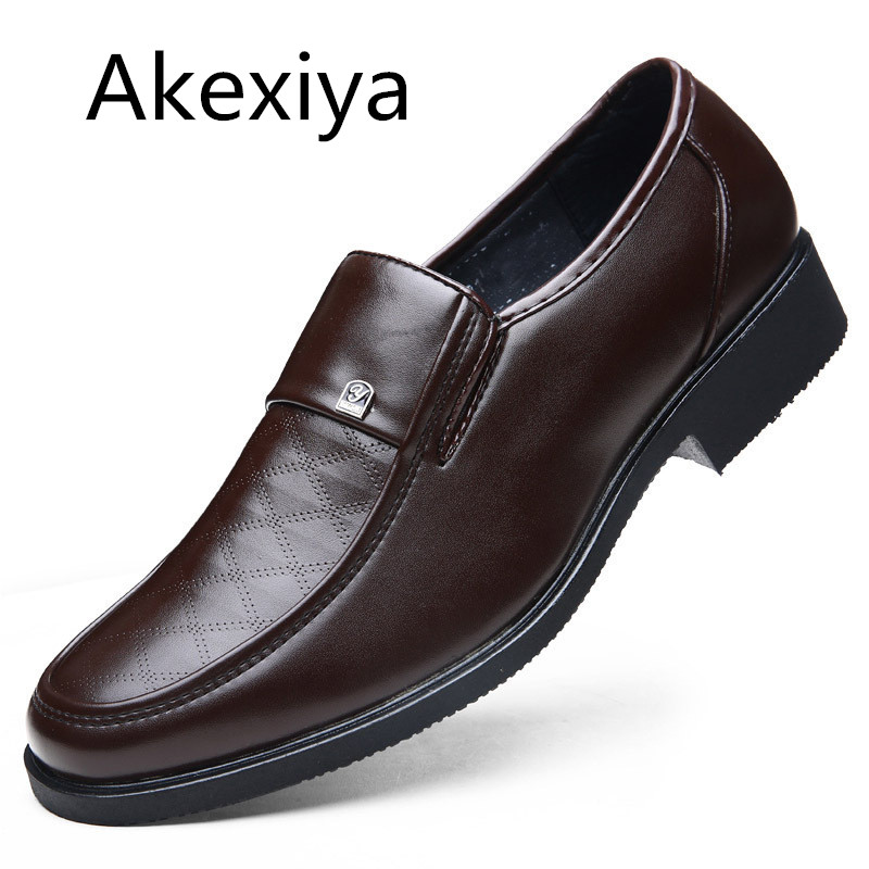 Avocado Store Akexiya New Gentleman Oxford Shoes For Men Dress Shoes Leather Office men flats Shoes Spring Height Increasing Zapatos Hombre