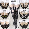 Princess sweet lolita pantyhose Fake tattoo cartoon design jacquard spell have pantyhose LKW108