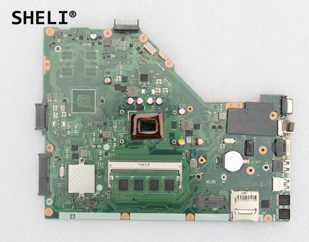 SHELI pour ASUS X55C X55VD carte mère avec I3-2350M CPU 2 GB de mémoire