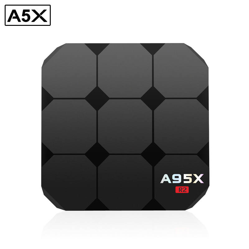 A95X R2 TV Box Amlogic S905W 2.4 GHz WiFi 4 K * 2 K Smart Set-Top Box Android 7.1 2G RAM 16G ROM Media Player avec Affichage LED PK R1
