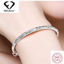 925 Sliver Sterling Bracelet for Womens Pulseira Feminina Peridot Armbanden Party S925 Diamond Bangle