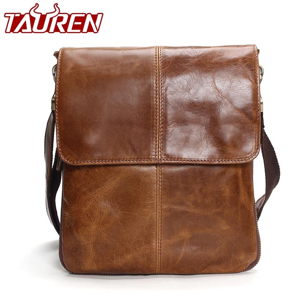 все цены на Tauren Genuine Leather Shoulder Bags Mens Leather Bag Brand Casual Business Mens Bag High Quality New Mens Travel Crossbody Bag онлайн