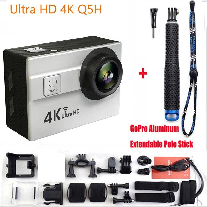ФОТО Q5H Sports Action Camera 2.0 Inch 30M Waterproof 1080P Full HD Wi-Fi 170 degree angle Add Aluminum Extendable Pole Stick