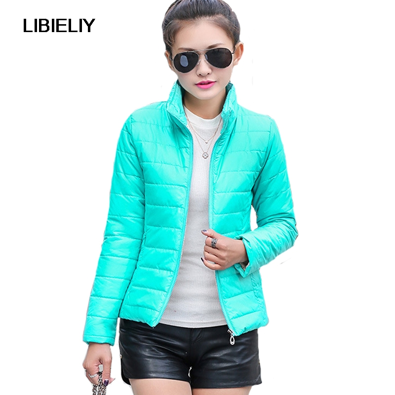 Nice Women Winter   Basic     Jacket   Ultra Light Candy Color Spring Coat Female Short Cotton Outerwear Jaqueta Feminina