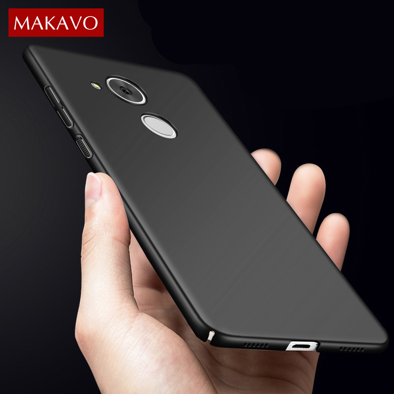 MAKAVO For Huawei Honor 6c Pro Case 360 Protection Slim Matte Hard Plastic Back Cover for Huawei V9 Play Phone Cases Housing