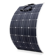 100w Solar Panel Semi flexible 200W Solar System Photovoltaic Monoctrystalline 12v 24V Battery/yacht/RV/car/boat RV leory 12v 20w semi flexible solar panel monocrystalline solar city chip with 300cm cable suitable for car rv boat ship batteries