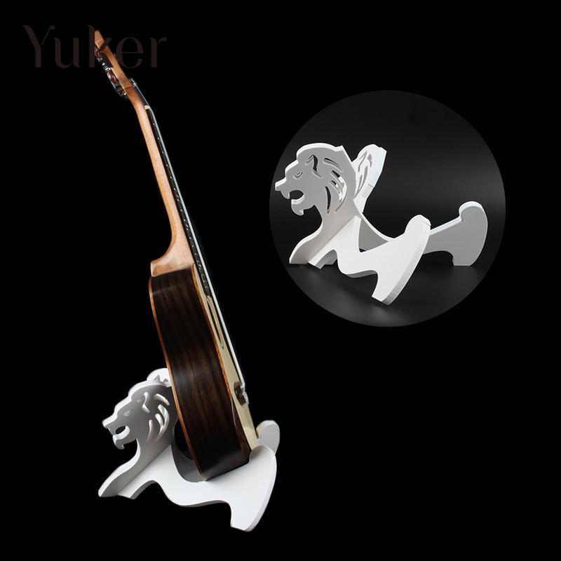 Yuker White Wood Collapsible Foldable Guitar Stand Holder for Ukulele Mandolin Violin Ukes wood stand holder