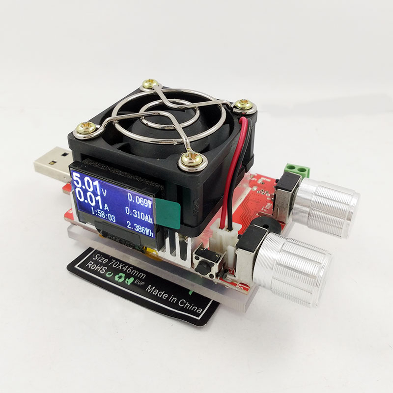 QI Wireless Charging Tester Detects Charger Voltage, Current Emission, Aging 5W Constant Current Load.