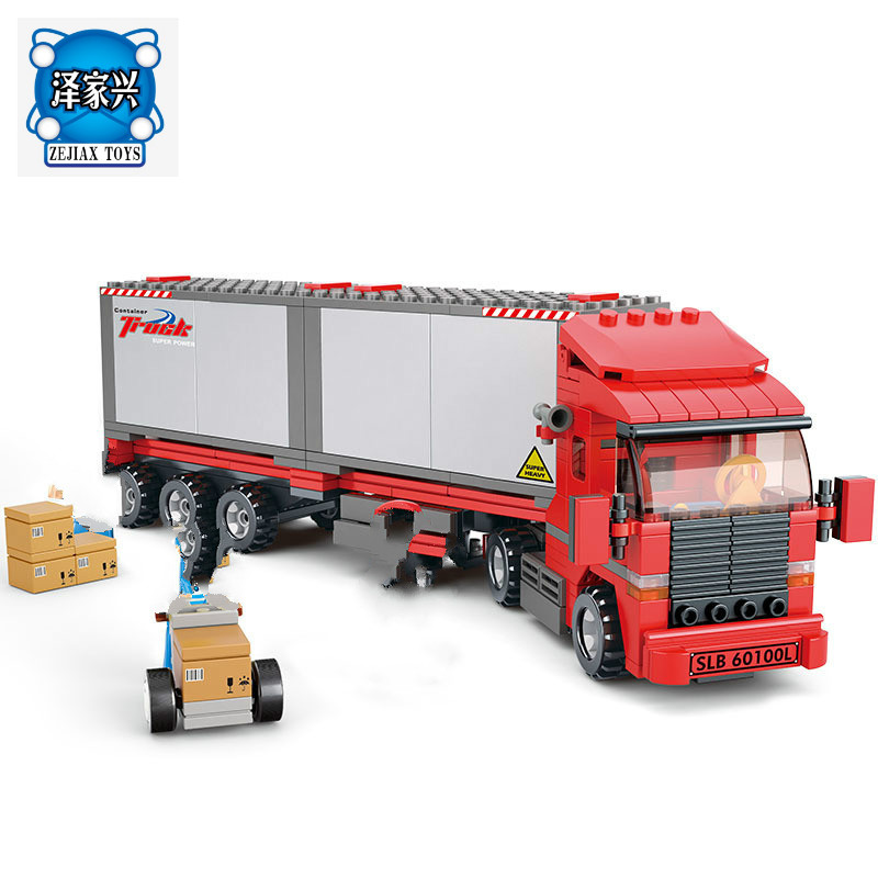 DIY Model Building Kits Compatible with Lepins City Truck 520 3D Blocks Educational Model & Building figures Toys for Children