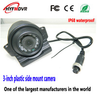 Factory directly batch 3 black metal side loading truck camera hd AHD/CCD 12V monitoring probe waterproof/shockproof monitoring