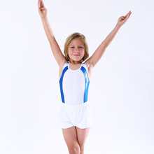 NT17039 Boys Basic Gymnastics Leotard Classic Ballet Practice Atheletic Tank Bodysuit with Shorts Set