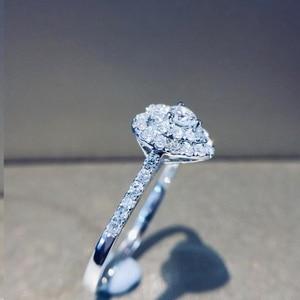 Image 3 - Naturalny diament 18K złoto czysty złoty pierścień piękny kamień pierścień dobry ekskluzywny modny klasyczny Party Fine Jewelry gorący bubel nowy 2020