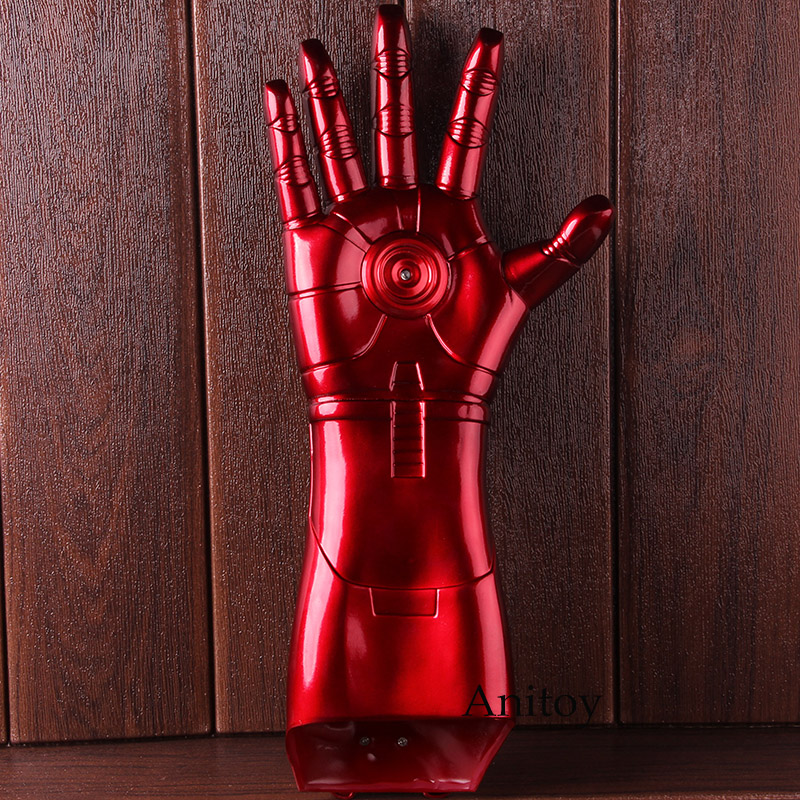 Marvel Iron Man 3 Cosplay Arm Glove with LED Light Infrared Launchable Iron Man Action Figure Toys for Boys Gifts 1
