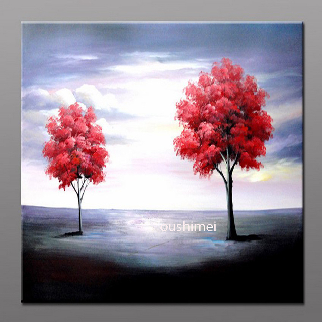 Atfart Living Room Hall Wall Art Handmade Landscape Oil: Handmade Modern Pictures On Canvas Oil Painting No Frame