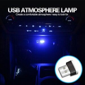 Image 5 - 1/3/4/7 stücke Auto Licht Mini USB Stecker Licht Automotive Interior Atmosphäre Licht Lampe In auto umgebungs Neon Bunte Auto Zubehör