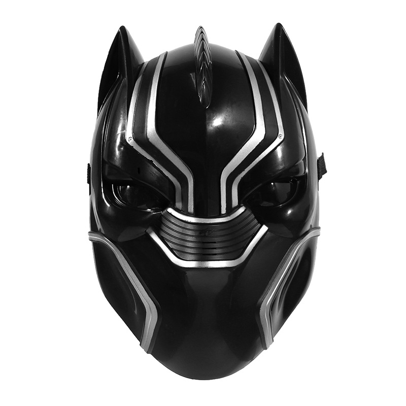 Halloween Luminous Black Panther Mask for Adult plastic  Material Mask Full Face Cosplay Helmet Masks Halloween Party Masquerade