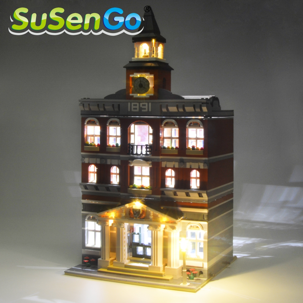 SuSenGo Kit de luces LED para creador Town Hall Light Set Compatible con 10224 y 15003 (NO incluye el modelo)