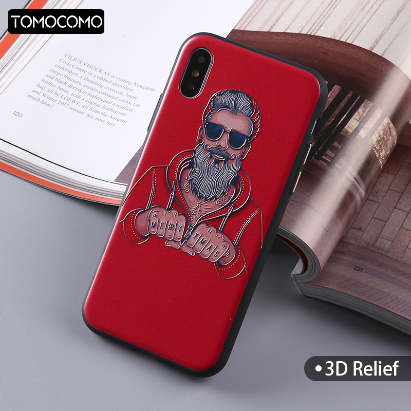 TOMOCOMO Hipster Sunglasses Boy Fashion Phone Cases For Iphone 5s 6 6s 6Plus 7 7s 7plus 8 8Plus X Soft Phone Cover Phone Shell