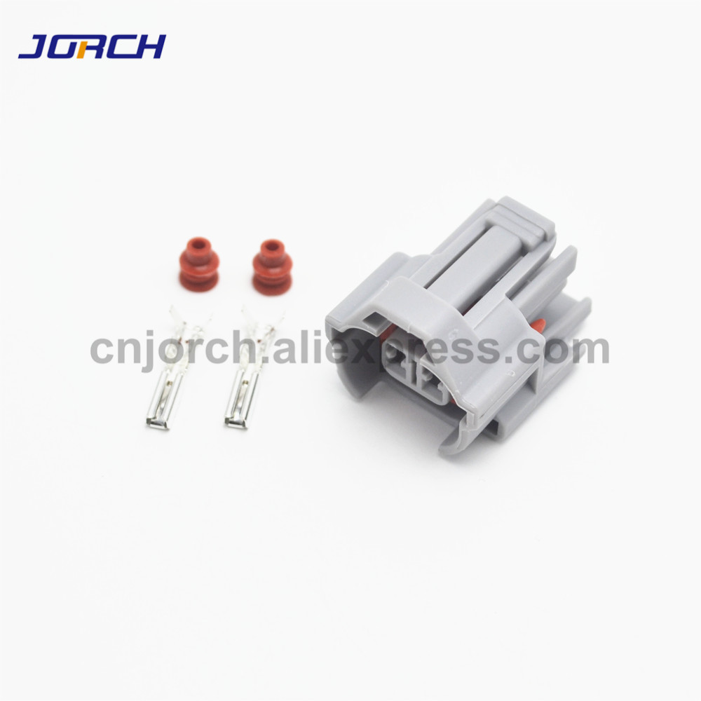 100Sets 2 Pin Nippon Female Fuel Injector Connector Female Connector for Subaru 6189 0060