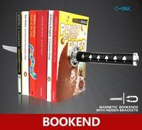 Creative Katana Bookend Home Decorative Magnet Katana Bookends As Book Stand Book Reading Holder