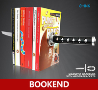 Creative Katana Bookend , Home Decorative Magnet Katana Bookends as Book Stand , Book Reading Holder