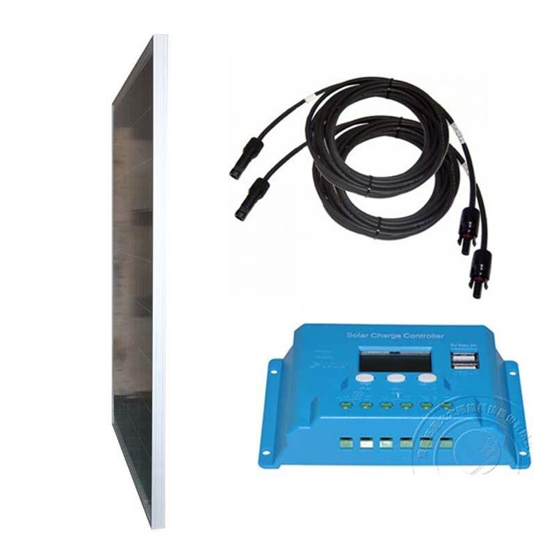 Conjunto Zonnepaneel 12 volt 100 watt Carregador de Bateria Solar Controlador de Carga Solar 12 v/v 10A 24 Cabo PV caravana de Campismo Carro LM