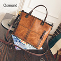 Osmond Women Leather Handbag Messenger Shoulder Bag Woman Fashion Bag Handbags Ladies Famous Brand Casual Tote Bag