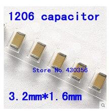 1206 SMD конденсатор 16 в 22 мкФ (226 м) 47 мкФ (476 м) 100 мкФ (107 м) 10 мкФ 4,7 мкФ 1 мкФ 475 225 мкФ 0,1 мкФ 0,47 мкФ