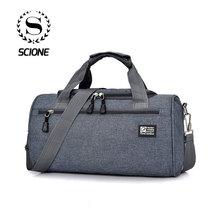 Scione Men Travel Sport Bags Light Luggage Business Cylinder Handbag Women Outdo