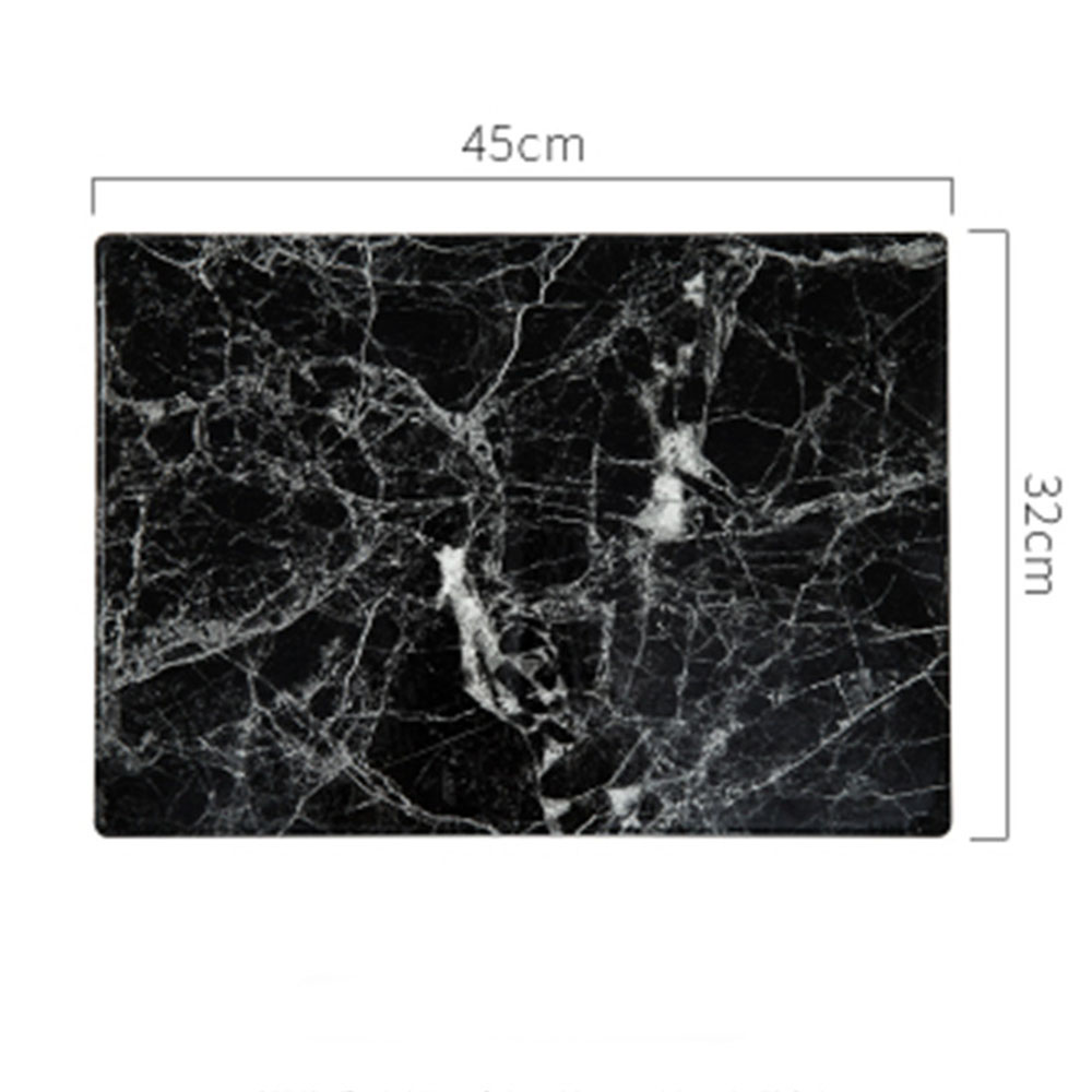 Hot Offer 55d9 Luxury Pu Leather Placemat Rectangle Black White