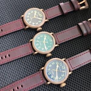 Image 5 - Relojes Retro de piloto para hombre Cusn8, reloj para buzo de bronce, de cristal de zafiro resistente al agua de 300m, reloj de movimiento suizo para hombre