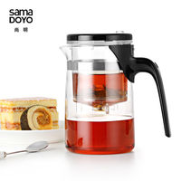 Samadoyo E 01 High Grade Gongfu Teapot & Mug 500ml Glass Teapot SAMA Art Tea Cup for Dian Hong Black Tea Da Hong Pao