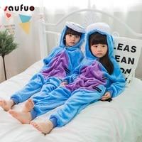 Saufuo Animal Blue Donkey Pajamas Onesie Adult Unisex Cosplay Costume Pyjamas Sleepwear For Men Women