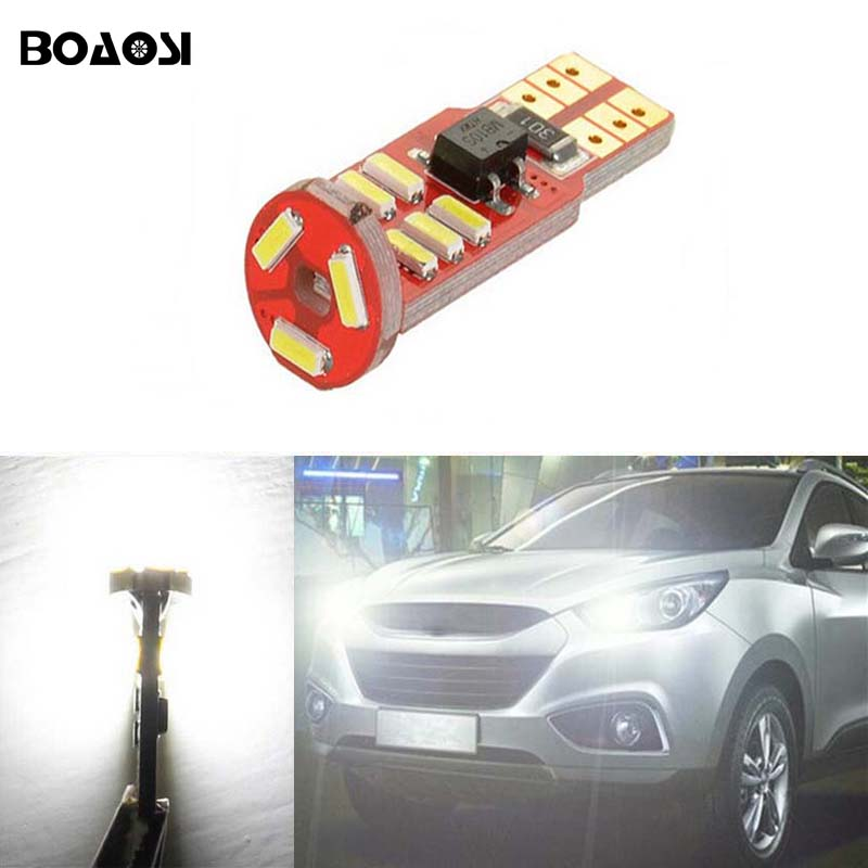 1pcs led T10 w5w 15SMD 4014 canbus error free car Width bulb light for hyundai solaris ix35 i30 accessories accent Verna sonata