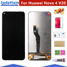 цена на For Huawei Honor View 20 Display LCD Screen replacement For Huawei Nova 4 V20 lcd display touch screen complete module