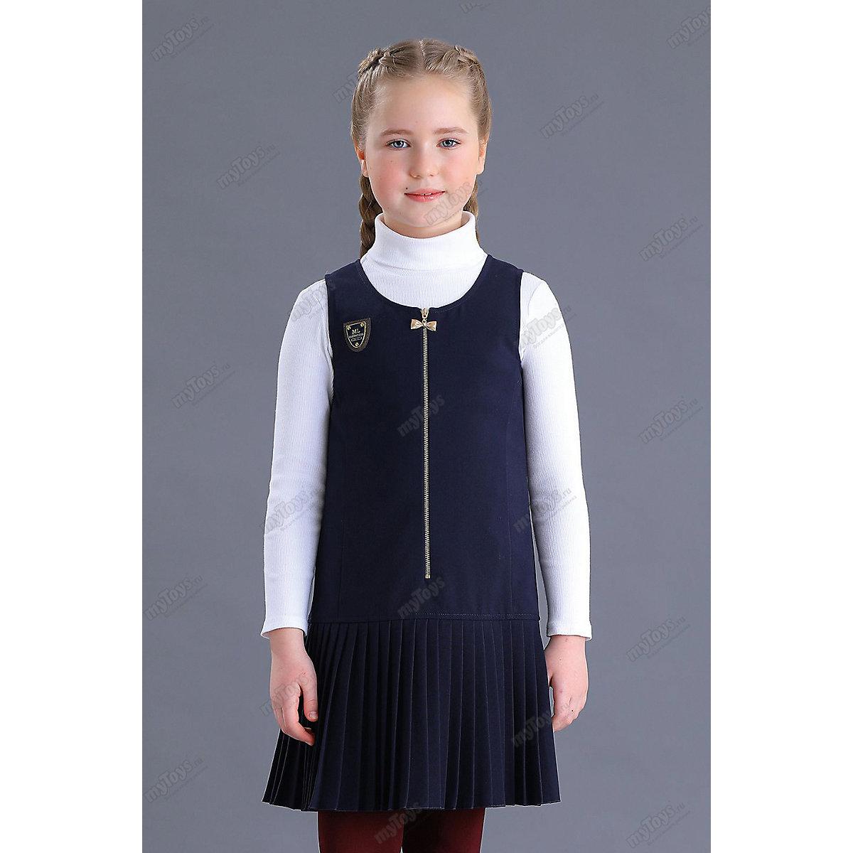 МАЛЕНЬКАЯ ЛЕДИ Dresses 11686184 school uniform dark blue for girls Formal Sleeveless Pleat blue backless design stitching v neck sleeveless sexy dress