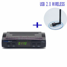2016 New Freesat V7 HD Satellite Receiver Full 1080P +1PC USB WiFi DVB-S2 HD Support Ccam powervu youpron set top box power