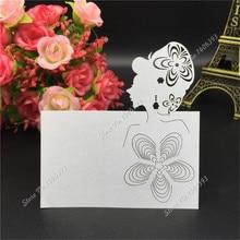 50Pcs/lot Laser Cut Flower Beauty Wedding Party Table Name Place Cards Decoration Favors Supplies
