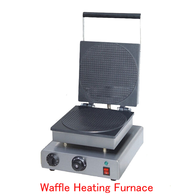 Electric Waffle Maker Commercial Waffle Heating Furnace Ice Cream Cone Machine Cone Egg Roll Maker FY-2209 chinese single round pan rolled ice cream machine fried ice cream roll machine with 6 barrels