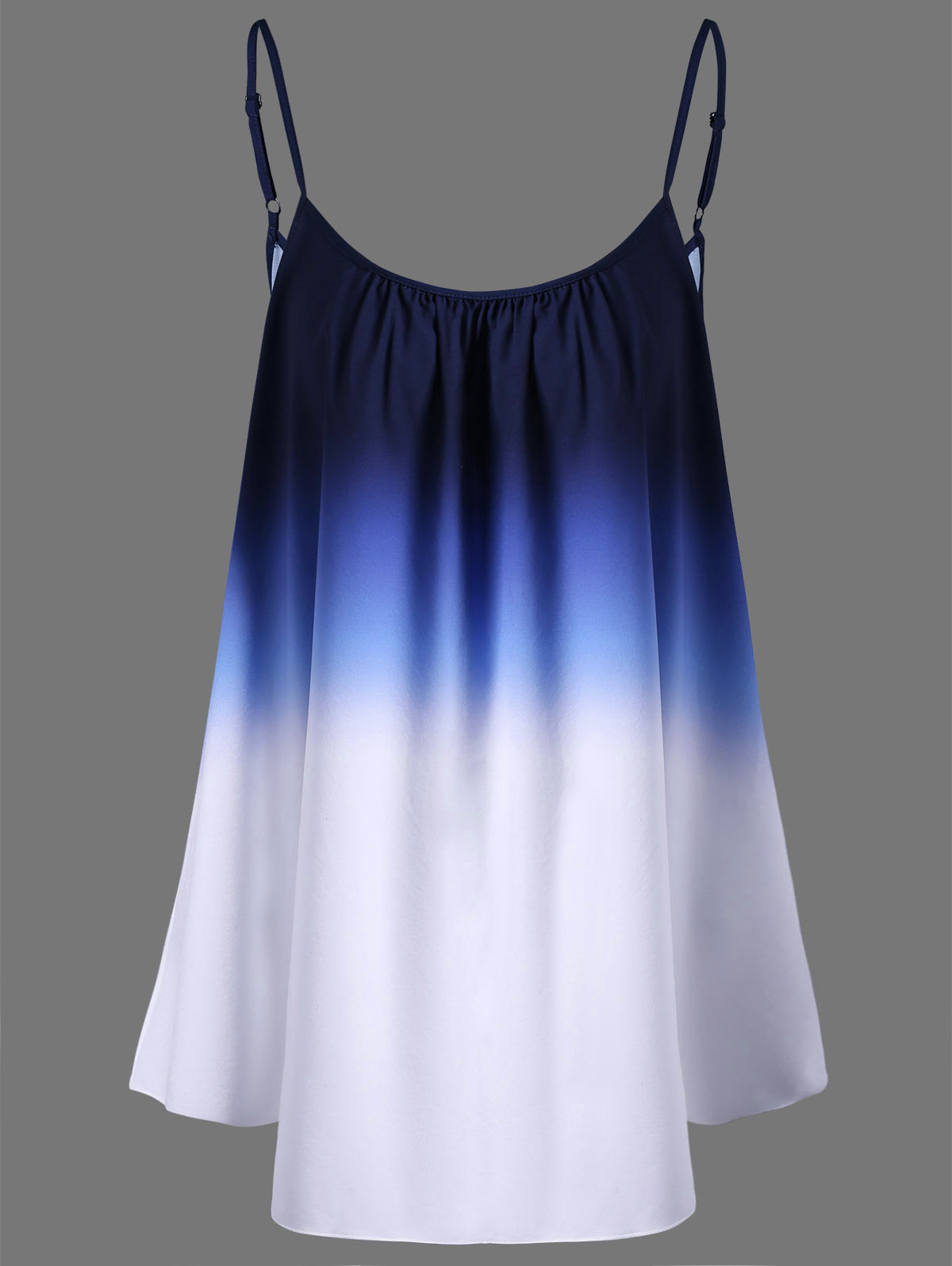 Wipalo Plus Size 5XL Women Clothing Ombre Print Cami Top Tie Dye Camisole Summer Sleeveless Beach Vest Ladies Tops Big Size